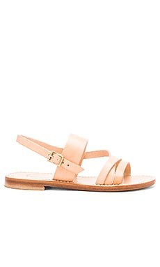 Capri Positano Roman Sandal in Light Natural
