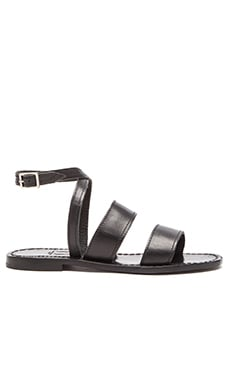 Capri Positano Classic Band Sandal in Black
