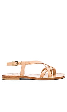 Multi Strap Sandal in Tan Light