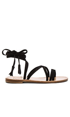 Pompeii Sandal in Black