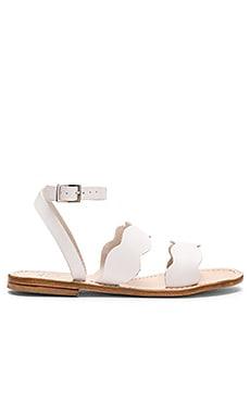 Capri Positano Sirena Sandal in Bianco