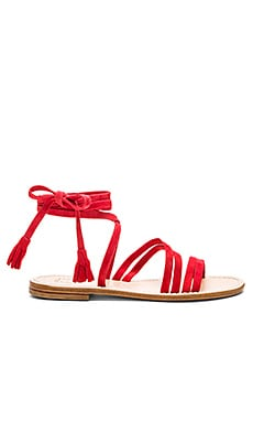 Capri Positano Appia Sandal in Red
