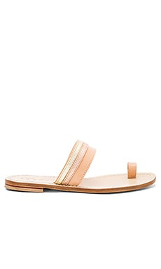 Single To Band Sandal in Gold & Rose Gold & Light Tan
