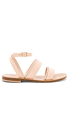Classic Classic Band Trim Sandal in Light Tan & Rose Gold