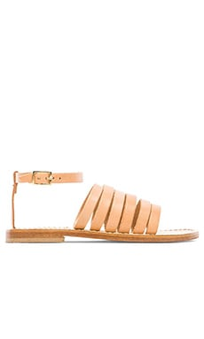 Lineal Band Sandal in Light Tan