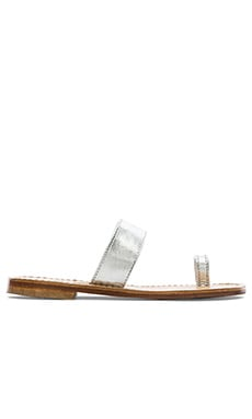 Capri Positano Single Toe Band Sandal in Silver
