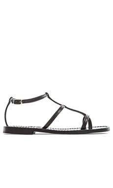 Capri Positano Triple Strap Sandal in Black