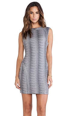 Capulet Bodycon Dress in Grey Micro Animal Print