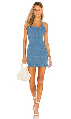 Linnea Smocked Mini Dress Capulet $80