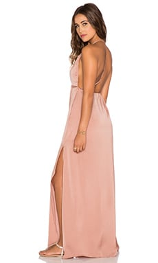 Capulet Halter Neck Maxi Dress in Burnt Orange