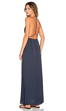 Capulet Halter Neck Maxi Dress in Navy