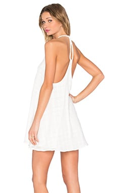 Y Back Braiding Dress in White
