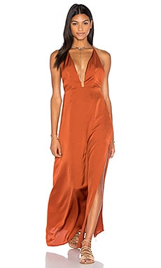 Pia Halter Maxi Dress in Rust