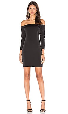 Capulet Shoulderless Bodycon Dress in Black