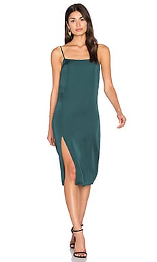 Midi Slip Dress in Emerald