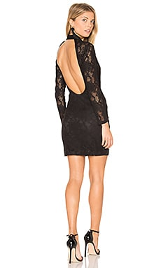 Ruby Bodycon Dress in Black Lace