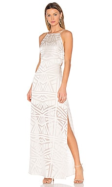 Anais Halter Maxi Dress in Ivory Geo