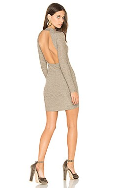 Ruby Ribbed Bodycon Dress en Or