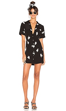 Lelaina Mini Dress in Leaf Print