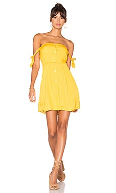 Giulia Mini Dress in Goldenrod