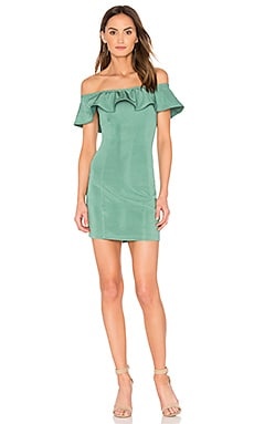 Eva Off Shoulder Mini Dress in Palmetto