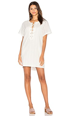Veronica Shift Dress in White Eyelet