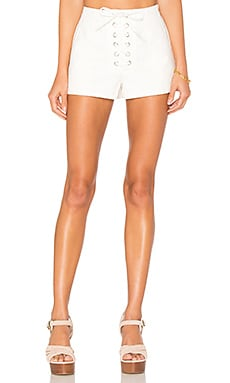 Ravenna Lace Front Short in White