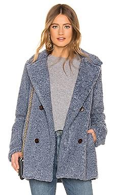 Gianna Faux Fur Peacoat Capulet $83