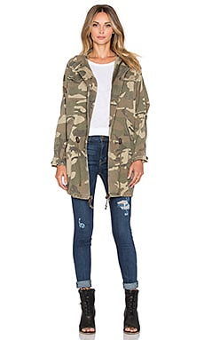 Capulet Oversized Survival Jacket in Green Camoflage