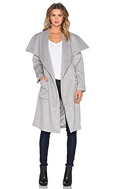 Capulet Belted Jacket in Light Grey
