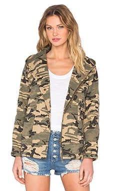 Capulet Hooded Military Jacket in Camouflage