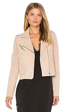 Stella Moto Jacket in Zartrosa