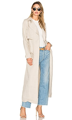 Bella Unstructured Trench Coat in Flachs