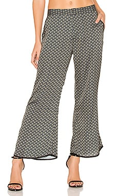 Zsa Zsa Trouser in Emerald Scarf Print