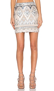 Capulet High Waist Mini Skirt in Empire Sequin