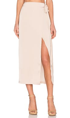 Wrap Maxi Skirt in Champagne