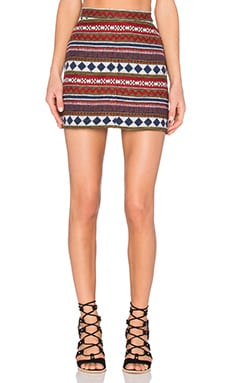 Capulet A Line Mini Skirt in Marrakesh Jacquard