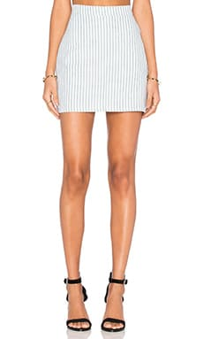 Capulet A Line Mini Skirt in Railroad Stripe
