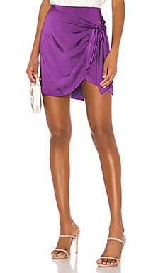 Ilana Wrap Mini Skirt Capulet $117