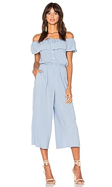Mara Off Shoulder Jumpsuit in Light Blue