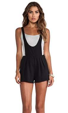 Scoop Front Overall Shorts