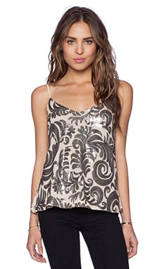 Capulet Embroidered Baroque Camisole in Silver