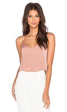 Flared Cropped Cami in Burnt Orange