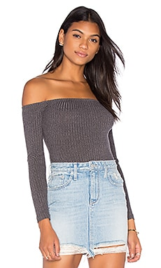 Capulet Rider Off Shoulder Bodysuit in Grey