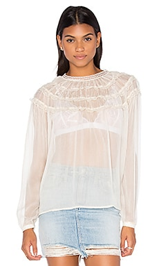 Laurel Lace Blouse in Cream