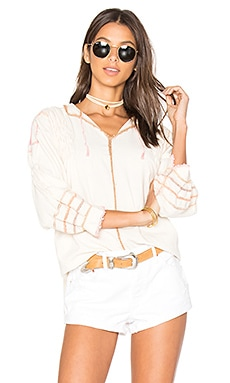 Oaxaca Crochet Blouse in Natural & Pastel