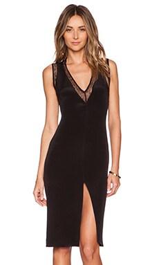 Carmella Sandra Midi Dress in Black & Black