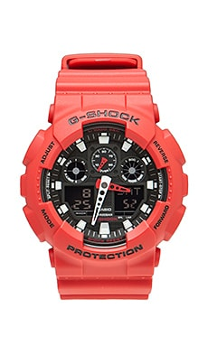 G-Shock GA-100 (LIMITED EDITION) en Rouge
