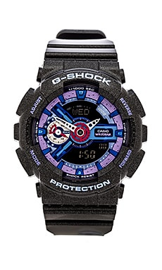 G-Shock GMAS-110 S Series in Black & Purple