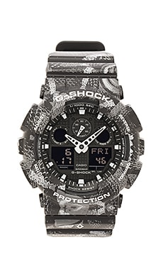 G-Shock x Marcelo Burlon GA 100 in Grey & Black